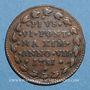 Coins Vatican. Bologne. Pie VI (1775-1799). 1/2 baiocco 1781, an VII