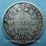 Coins Vatican. Pie IX (1846-1878). 1 lire 1866R, an XXI. Rome. Buste large