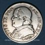Coins Vatican. Pie IX (1846-1878). 1 lire 1867R, an XXI. Buste large