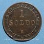 Coins Vatican. Pie IX (1846-1878). 1 soldo 1867R, an XXI