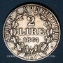 Coins Vatican. Pie IX (1846-1878). 2 lire 1867R, an XXII. Rome