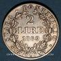 Coins Vatican. Pie IX (1846-1878). 2 lires 1869R, an 24. Rome
