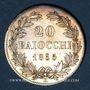 Coins Vatican. Pie IX (1846-1878). 20 baiocchi 1865R, an XX. Rome