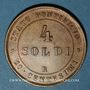 Coins Vatican. Pie IX (1846-1878). 4 soldi 1867R, an XXI. Rome