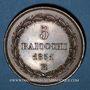 Coins Vatican. Pie IX (1846-1878). 5 baiocchi 1851R. Rome
