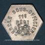 Coins 11e Génie. Mess. Strasbourg (67). 25 centimes