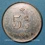 Coins Amiens (80). Café de la Préfecture - Cauchy Gaston (64 rue de la République). 5 centimes
