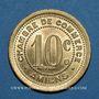 Coins Amiens (80). Chambre de Commerce. 10 centimes 1921. Essai