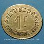 Coins Amiens (80). Société Coopérative l'Union. 1 franc