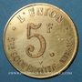 Coins Amiens (80). Société Coopérative l'Union. 5 francs