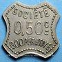 Coins Amplepuis (69). La Fraternité - Société Coopérative. 50 centimes