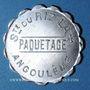 Coins Angoulême (16). Société du Riz Lacroix (La +) - Paquetage. sans valeur, aluminium