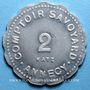 Coins Annecy (74). Comptoir Savoyard. 2 francs