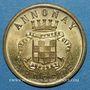 Coins Annonay (07). Union Commerciale et Industrielle. 10 centimes 1918. Laiton