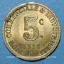 Coins Annonay (07). Union Commerciale et Industrielle. 5 centimes 1918. Laiton