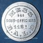 Coins Artillerie. 112e RALD. Mess des Sous-Officiers. Angoulême. 25 centimes