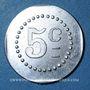 Coins Artillerie. 112e RALD. Mess des Sous-Officiers. Angoulême. 5 centimes