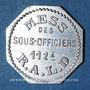 Coins Artillerie. 112e RALD. Mess des Sous-Officiers. Angoulême. 50 centimes