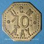 Coins Ay (51). U. C. M. (Union des Coopérateurs de la Marne). 10 centimes