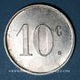 Coins Barbaira (11). Union des Commerçants. 10 centimes, sans cercle perlé