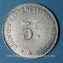 Coins Barbaira (11). Union des Commerçants. 5 centimes, cercle perlé au revers