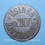 Coins Bavilliers (90). Usines. 10 centimes