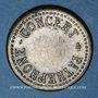 Coins Besançon (25). Central cinéma. Concert Pathéphone. Jeton d'audition. Laiton nickelé. 23,51 mm