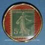 Coins Bordeaux. Caobania. 5 centimes (vert/rouge)