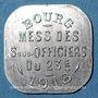 Coins Bourg-en-Bresse (01). Mess des Sous-Officiers du 23e. Bourg. 20 centimes 1918