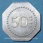 Coins Bourg-en-Bresse (01). Mess des Sous-Officiers du 23e. Bourg. 50 centimes 1918