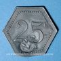 Coins Cholet (49). Cantine GIRARD - 77e d'Infanterie. 25 centimes. Contremarqué