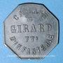 Coins Cholet (49). Cantine GIRARD - 77e d'Infanterie. 50 centimes. Contremarqué