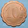 Coins Couëron (44). Usines. 10 centimes