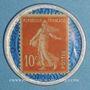 Coins Crédit Lyonnais. 10 centimes (rouge/bleu)