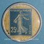Coins Crédit Lyonnais. 25 centimes (bleu/blanc)