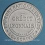Coins Crédit Lyonnais. 5 centimes (vert/rose)