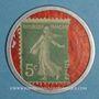 Coins Crédit Lyonnais. 5 centimes (vert/rouge)