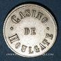 Coins Houlgate (14). Casino. Jeton sans valeur. Maillechort