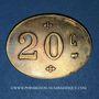 Coins Infanterie. 107e. Mess des Sous-Officiers. Angoulême (16). 20 centimes