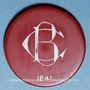 Coins La Bourboule (63). Casino Municipal. 20 francs. plastique laminé rouge, gravé et peint en blanc