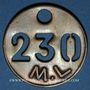 Coins Landres (54). Mines de Landres M. L., Jeton de pointage, n° 230
