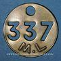 Coins Landres (54). Mines de Landres M. L., Jeton de pointage, n° 337