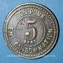 Coins Le Puy (43). Grand Café de Paris. 5 centimes. Laiton
