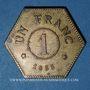 Coins Longwy (54). Aciéries de Longwy - Hôtel Economat. 1 franc 1883