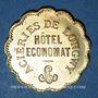 Coins Longwy (54). Aciéries de Longwy - Hôtel Economat. 20 centimes 1883