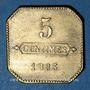 Coins Longwy (54). Aciéries de Longwy - Hôtel Economat. 5 centimes 1883
