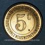 Coins Lons-le-Saunier (39). Caisse de Famille. Economat Saint-Désiré. 5 centimes