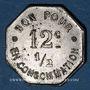 Coins Lorette (42). Café Restaurant Bonjour. 12 centimes 1/2