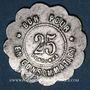 Coins Lyon (69). Brasserie Georges. 25 centimes. Aluminium