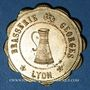Coins Lyon (69). Brasserie Georges. 25 centimes. Laiton